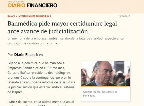 Banmédica pide mayor certidumbre legal ante avance de judicialización 4d7d749e275