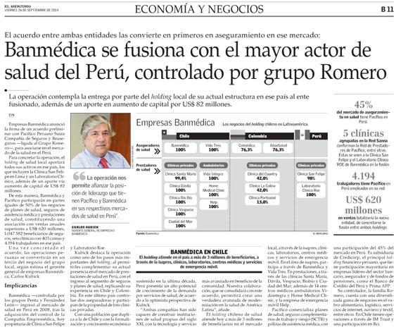 Banmédica se fusiona con el mayor actor de salud del Perú ... c616b0469ba
