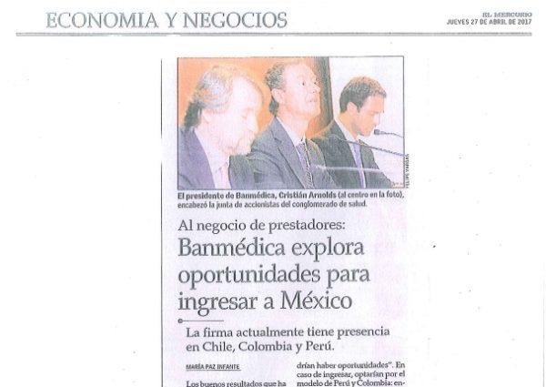 Banmédica explora oportunidades para ingresar a México 6716c9a51ec